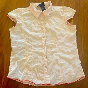 Girls cotton button up shirt XL